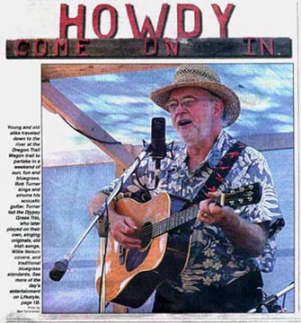 Bob Turner in Newspaper: Bands, Singers, Songwriters / Composers, Solo Performers, Sidemen, Instrumentalists, Performers, Entertainers, Musicians, Cowboy Poets