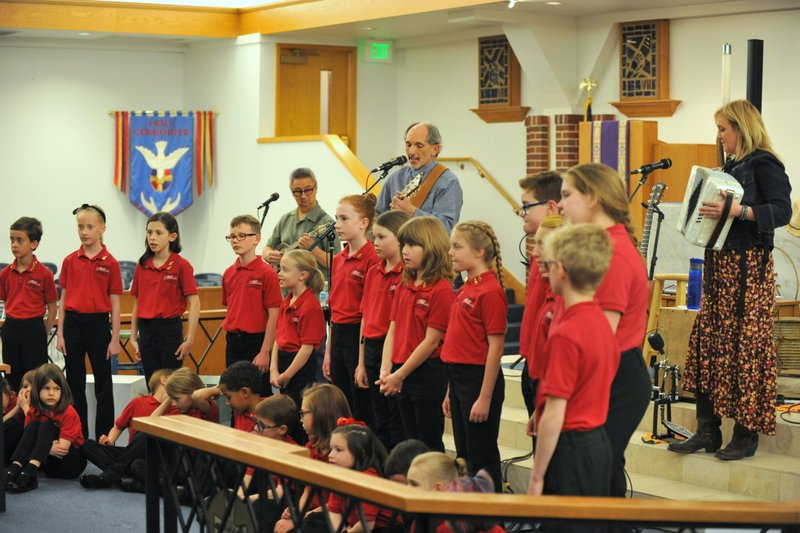 with Dakota Blonde and the Broomfield Children's Chorus, March 16, 2018