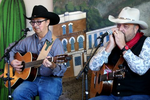 with Jon Chandler at the Colorado Cowboy Gathering, Golden CO, Jan. 2014