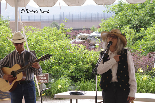 with Sandy Reay, Pikes Peak Cowboy Gathering July 2015