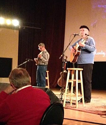 Ernie Martinez with Tom Paxton at Stargazers, Colorado Springs, Oct 17, 2014