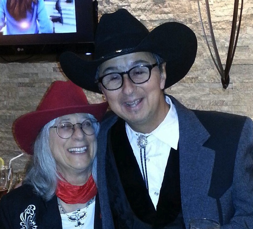 with Sandy Reay at the WMA festival Albuquerque NM