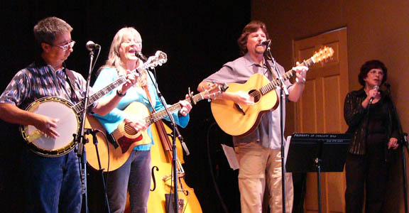Ernie Martinez, Sandy Reay, Rick McGregor, Christy Wessler at Swallow Hill Folk Festival