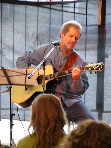 J.J. Fraser playing at Acoustic Music Revival